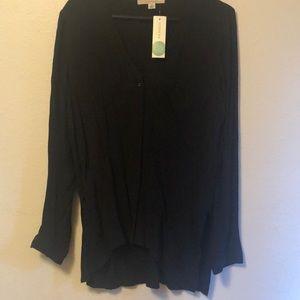 Hawthorn side split blouse